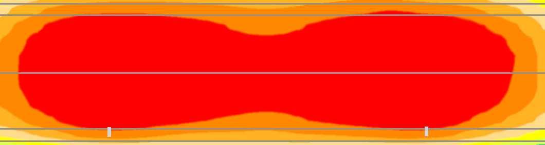 Пример освещенности дороги (диаграмма)